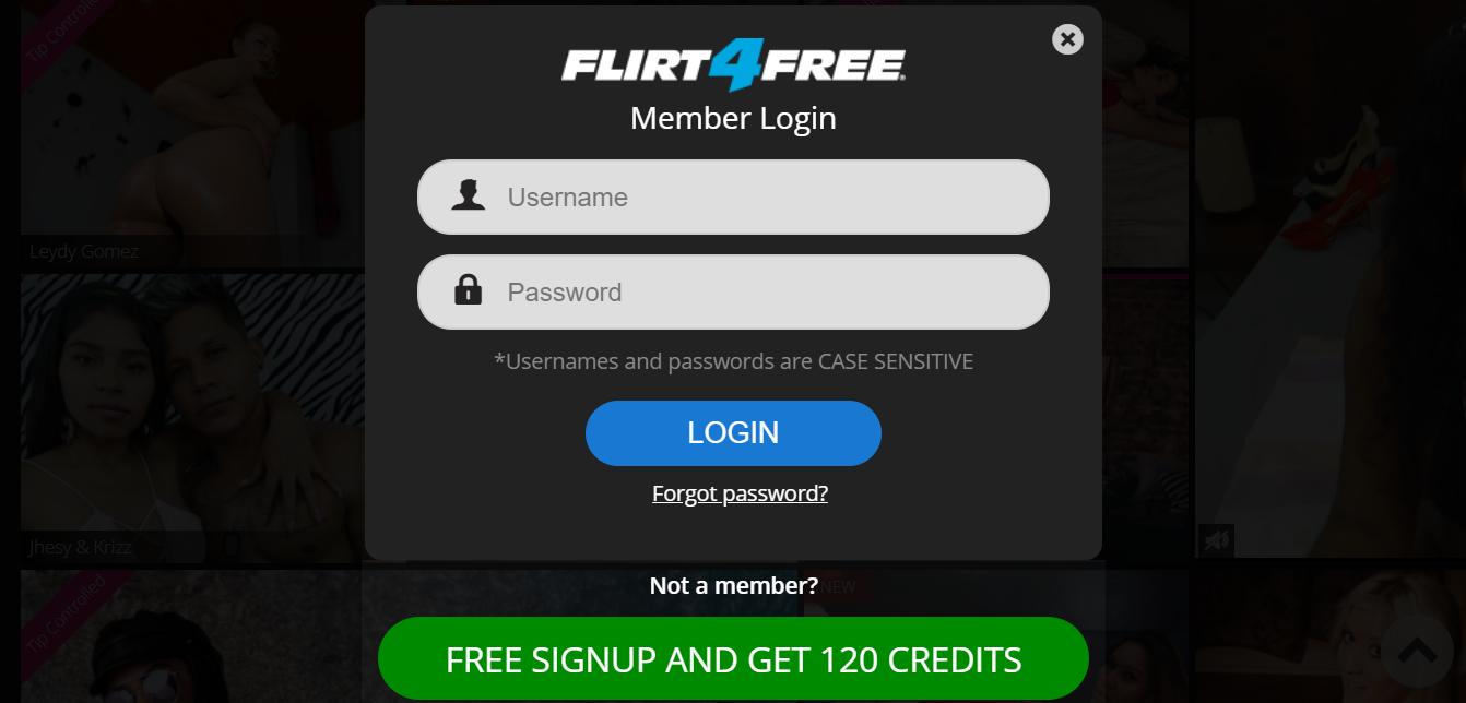 flirt4free registration
