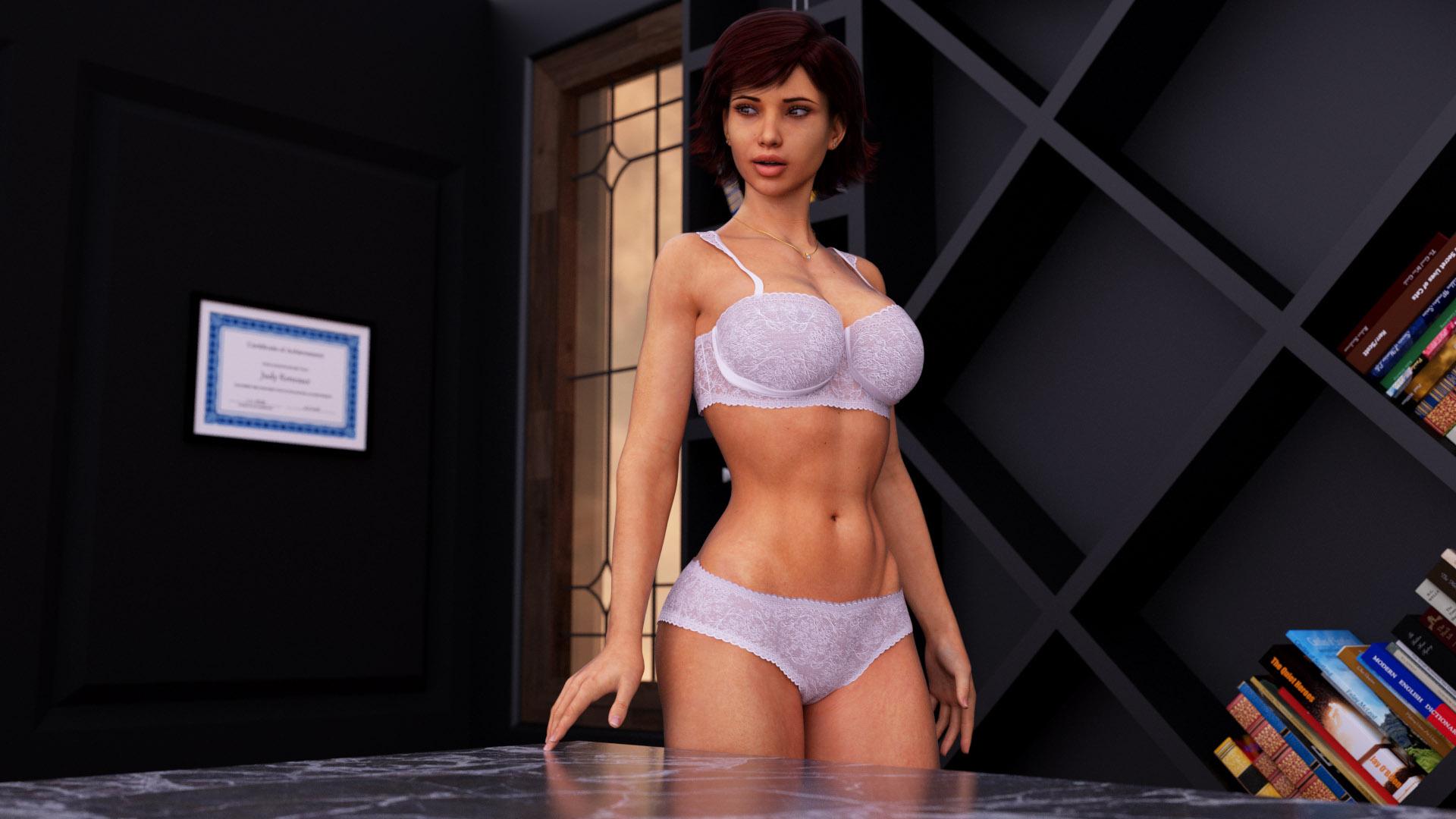 Milfy City girl in lingerie