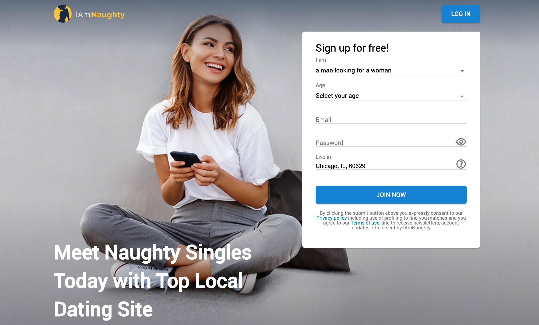 IAmNaughty main page